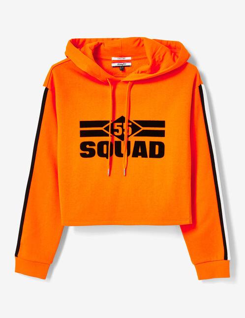 sweat à capuche 55 squad orange