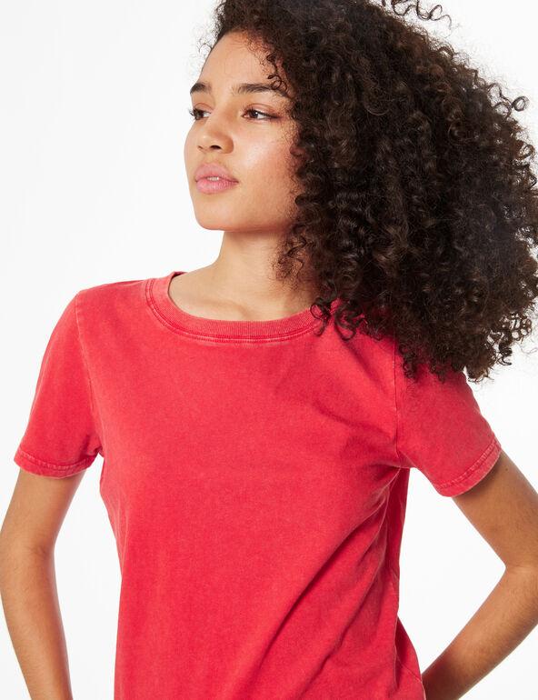 Washed-effect T-shirt