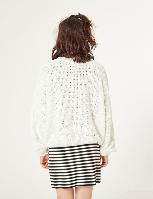 pull chenille loose blanc