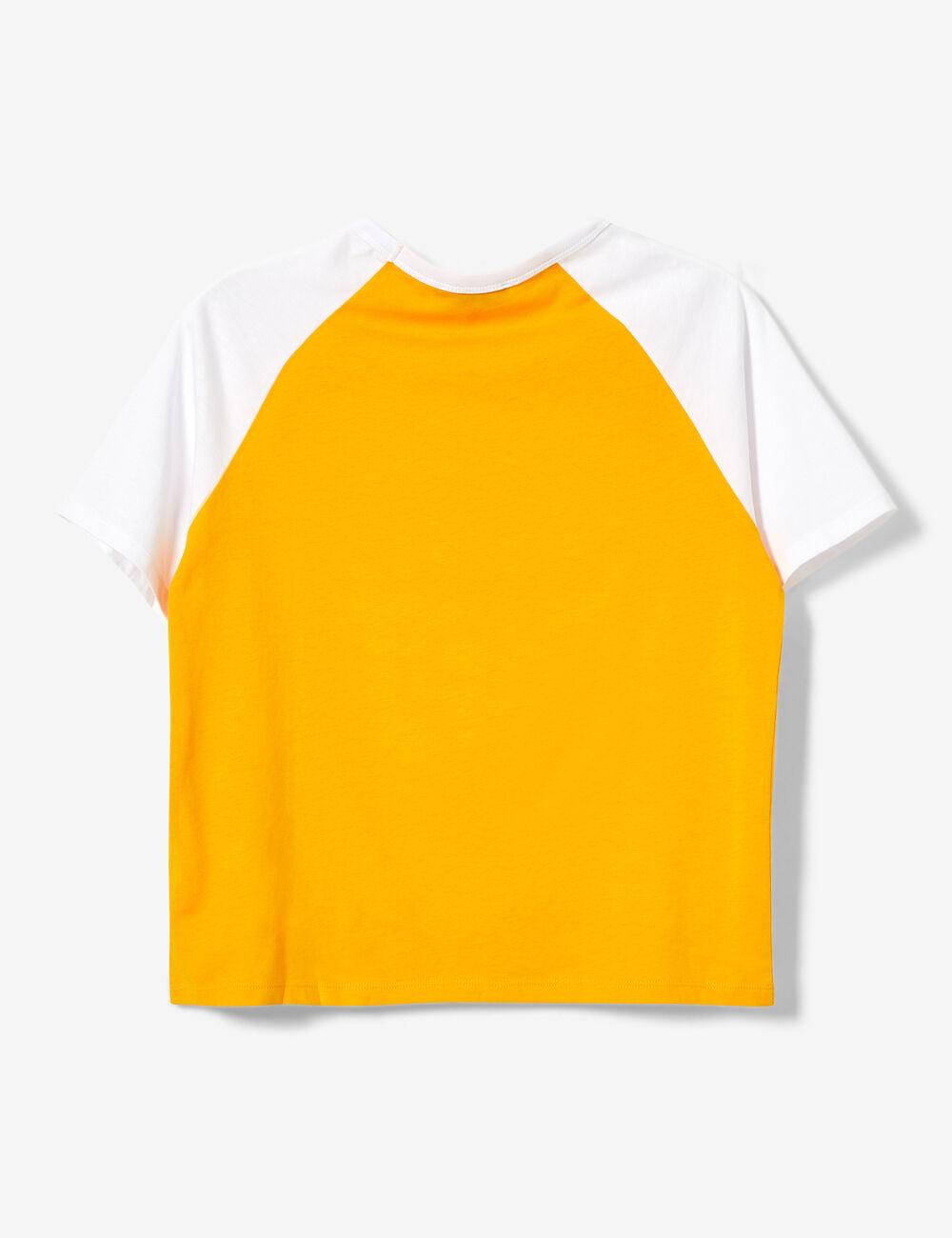 d4b3881944c0e Tee-shirt imprimé jaune et blanc femme • Jennyfer