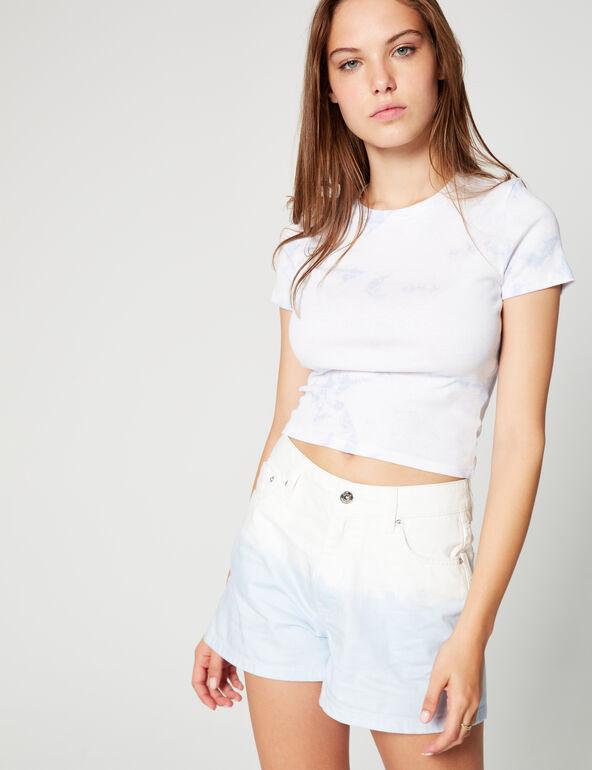 Tie-dye mum shorts