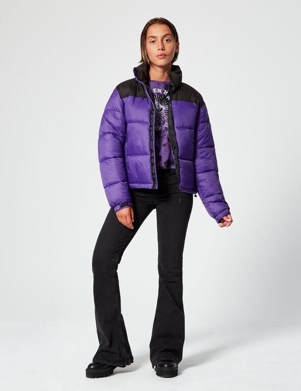 Two-tone padded jacket