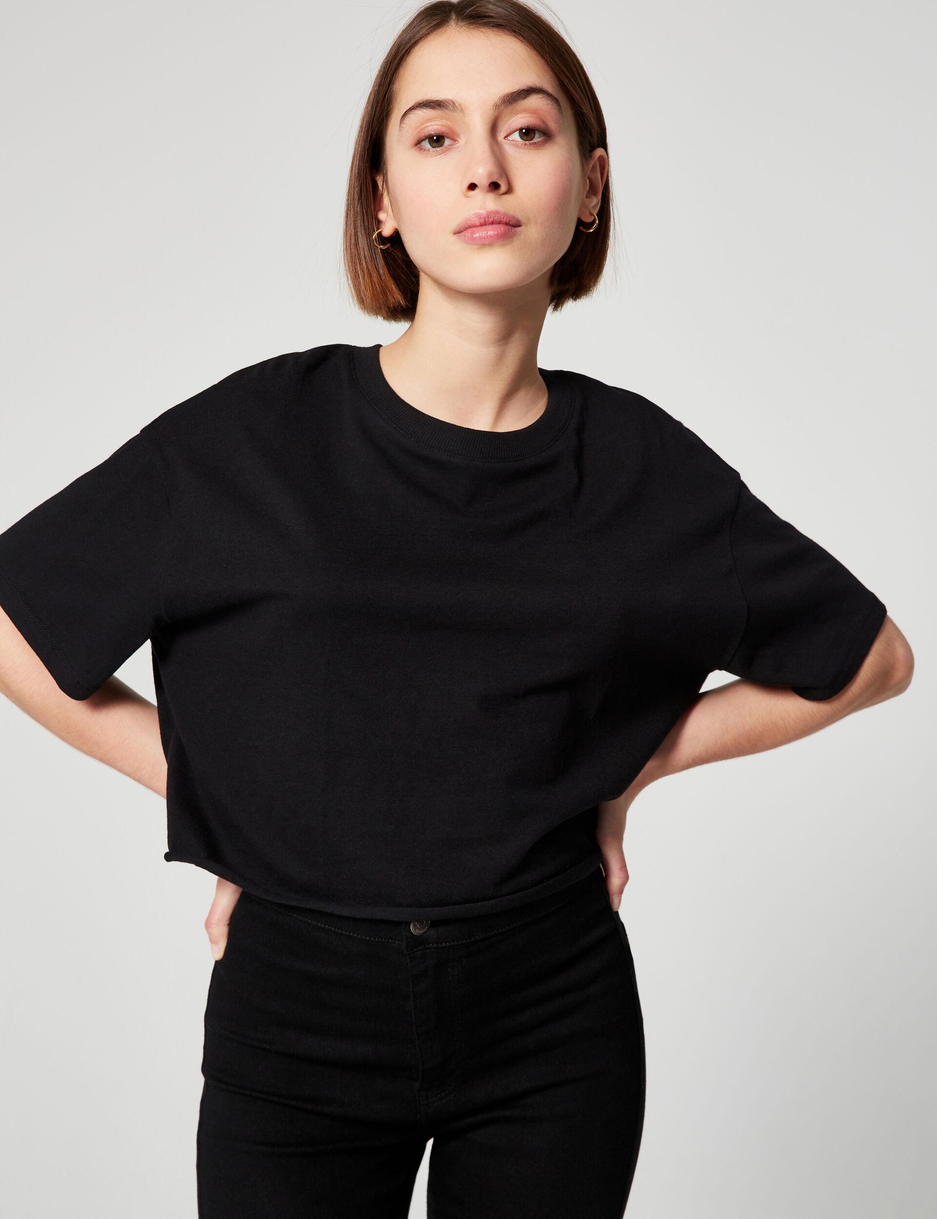 Oversized cropped T-shirt
