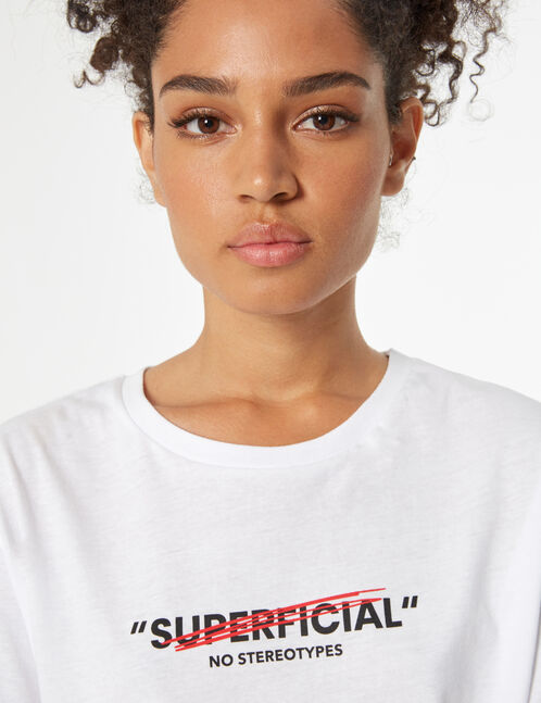 tee-shirt don't call me superficial