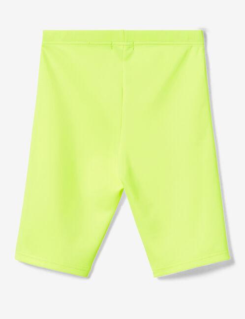 cycliste jaune fluo