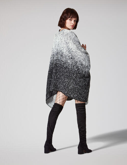 Black and grey cape