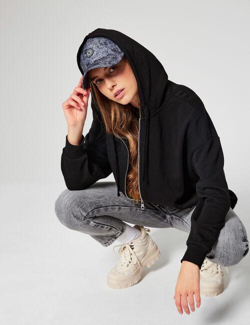 Oversized zipped sweatshirt