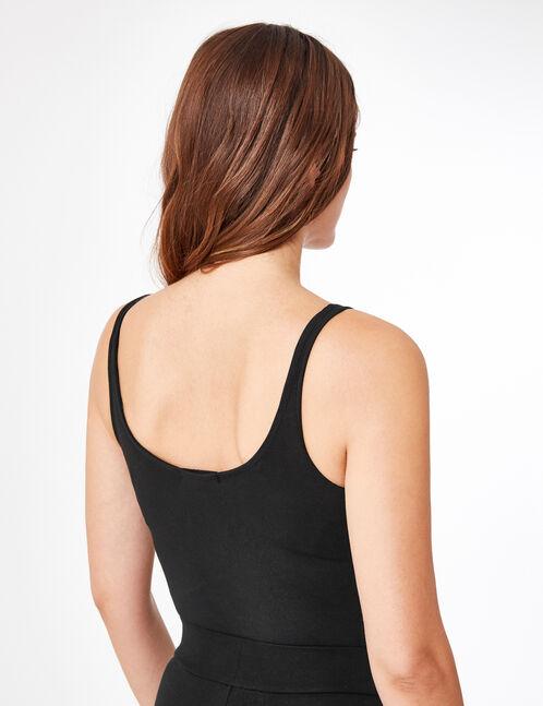 body fitness zippé noir