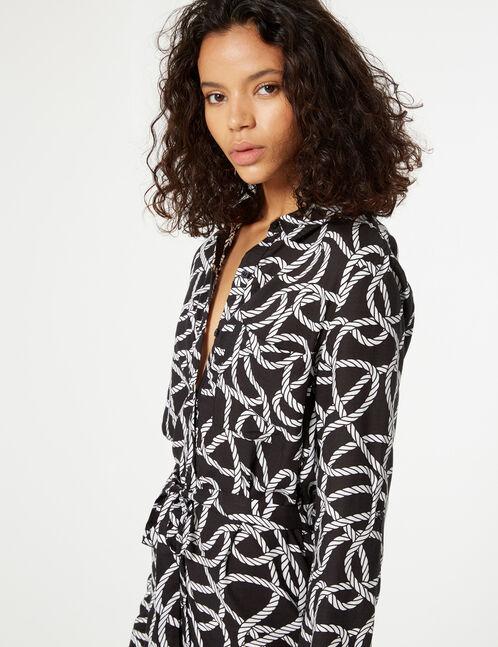 robe imprimé corde