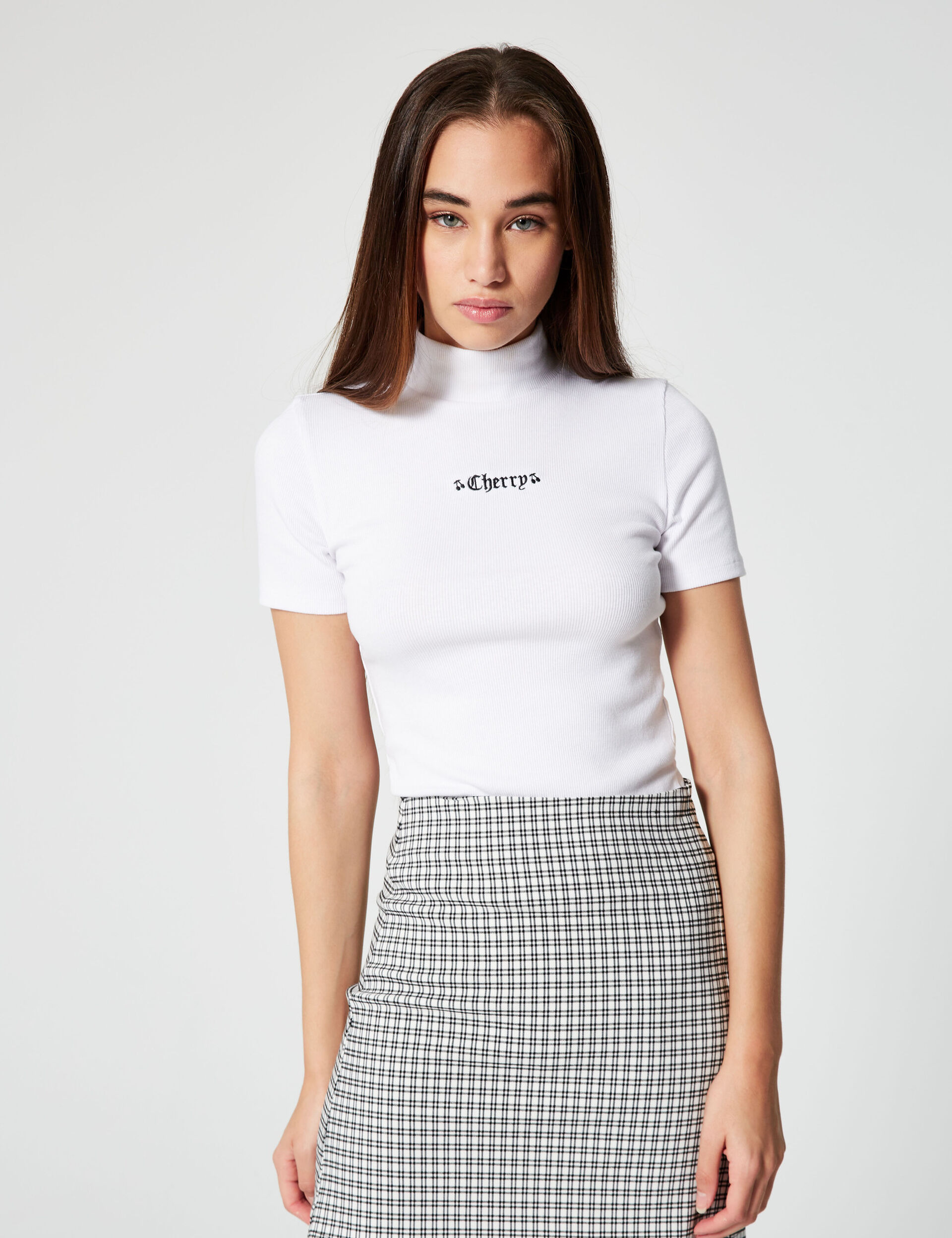 Tee-shirt côtelée cherry