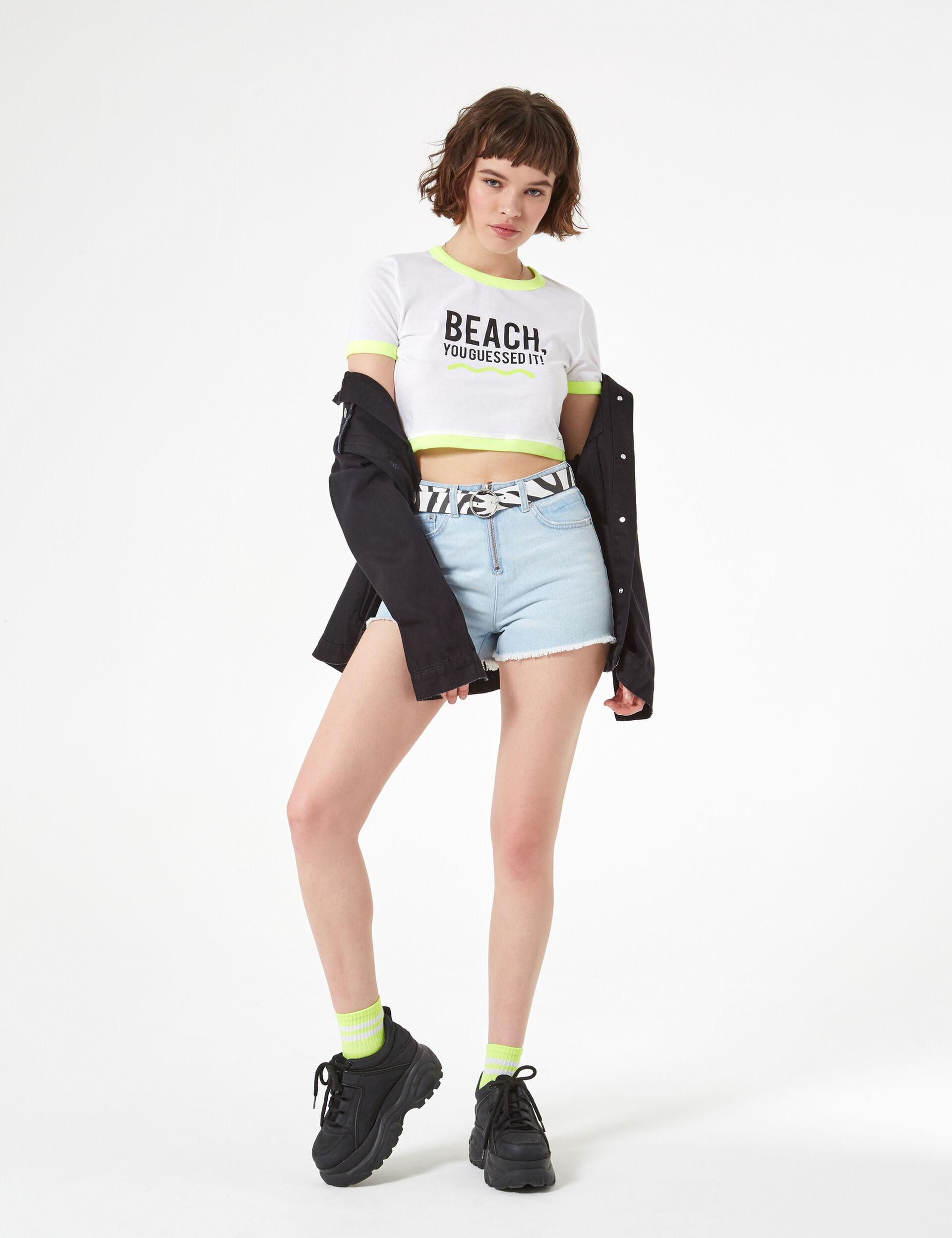 Beach text t-shirt