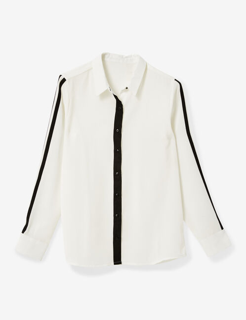 White shirt with trim detail