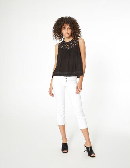 blouse avec dentelle noir