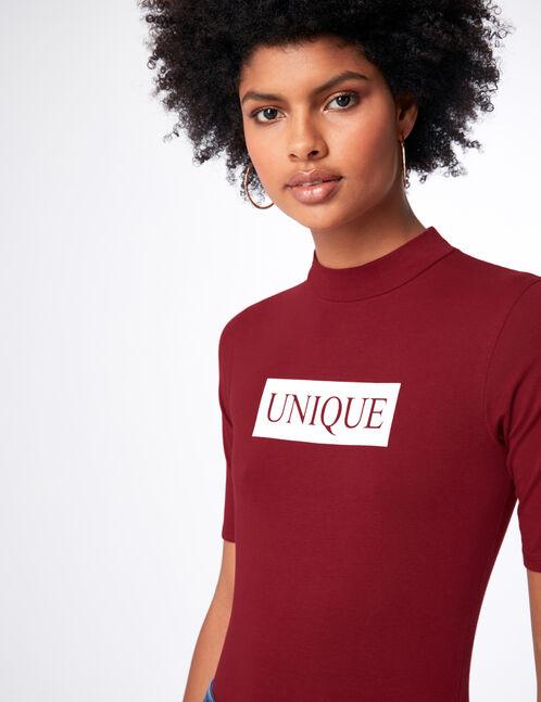 """Burgundy """"unique"""" bodysuit"""