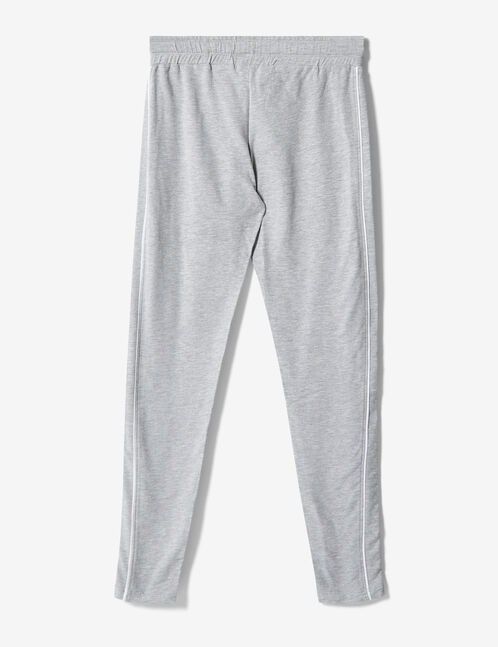 Grey marl slim-fit joggers
