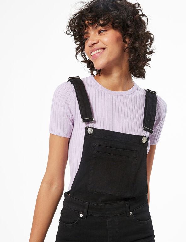 Skinny denim overalls