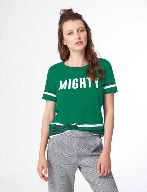 tee-shirt mighty vert