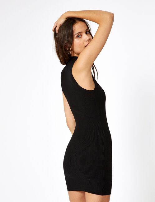 Sleeveless black jumper dress