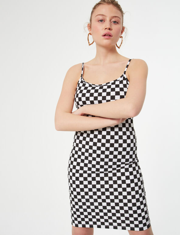Short checked dress