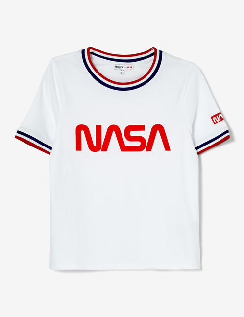 "White, red and blue ""NASA"" T-shirt"
