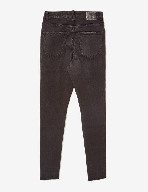 Black skinny jeans with eyelet detail