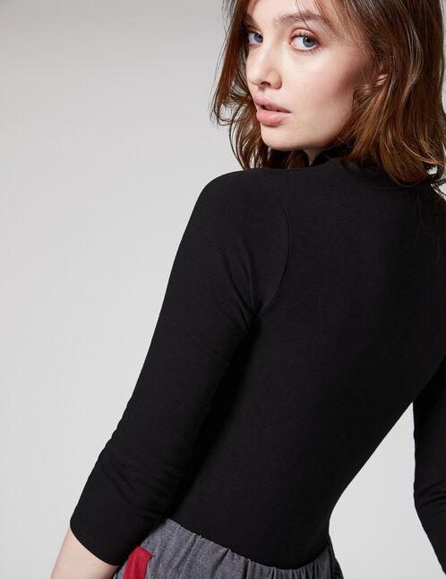 """Black """"hello"""" bodysuit"""