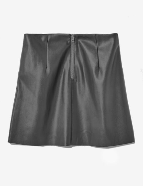 Charcoal grey skirt with pockets