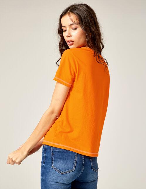 """Orange """"sorry I'm late"""" T-shirt"""