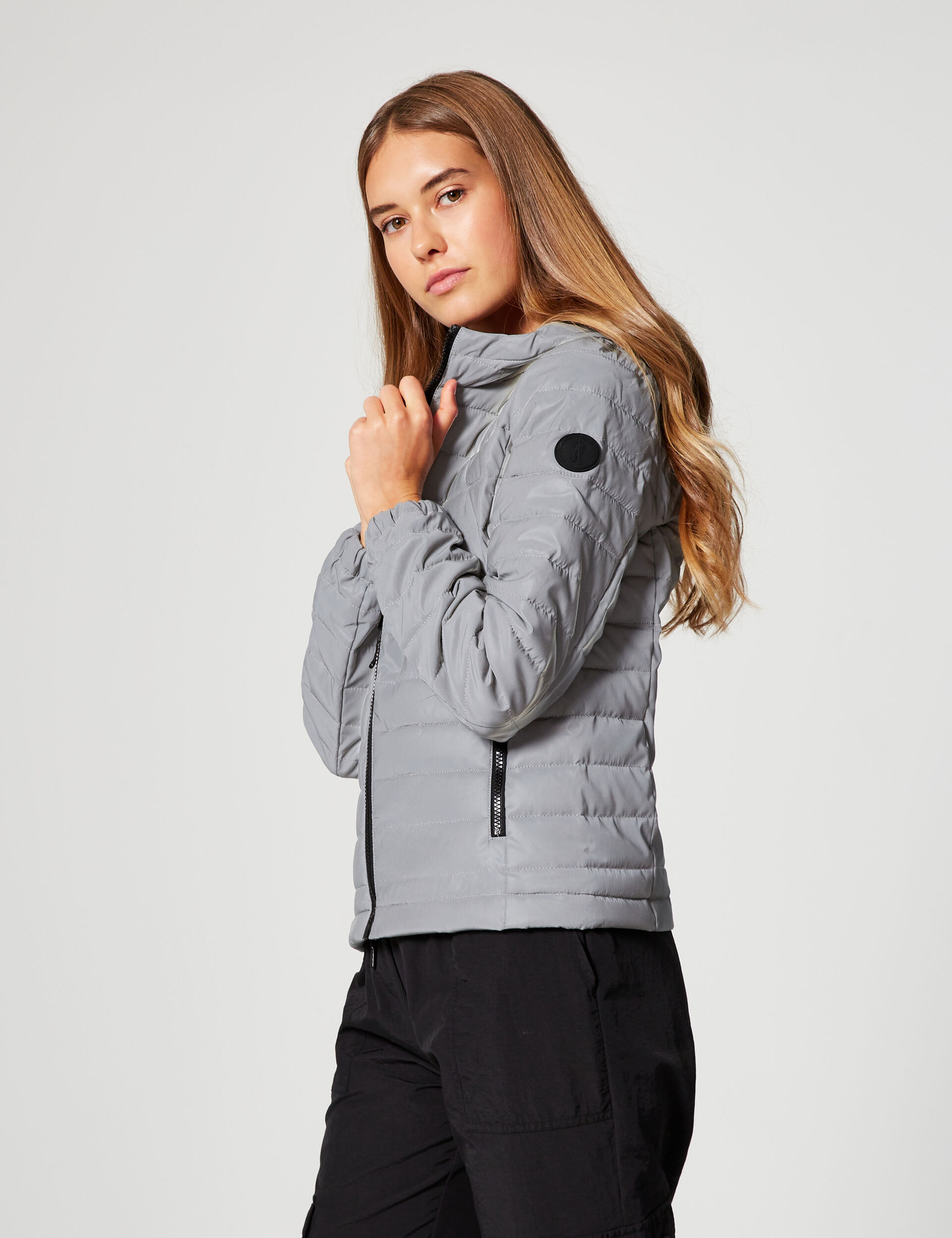 Lightweight padded jacket with reflective details