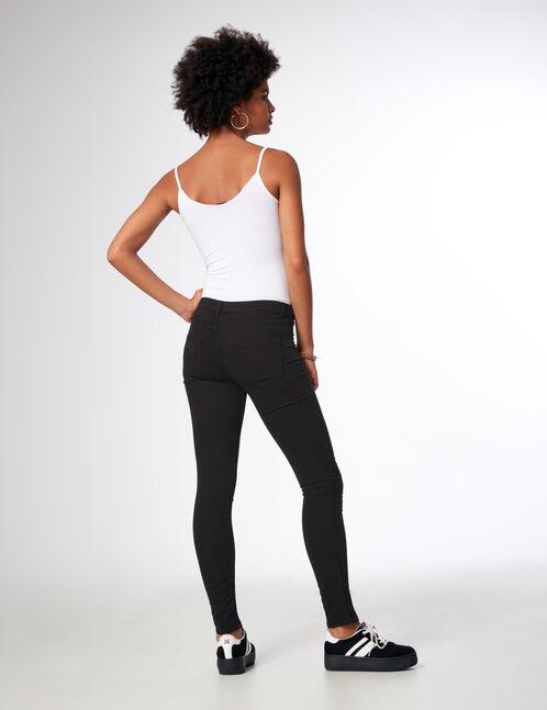 jegging taille medium noir femme jennyfer. Black Bedroom Furniture Sets. Home Design Ideas