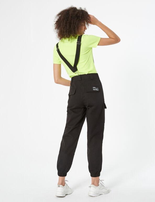 Pantalon cargo à bretelles