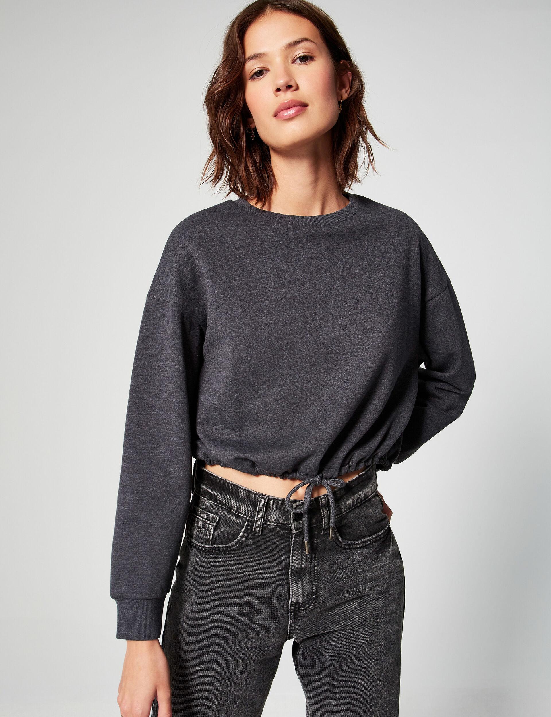 Basic cropped sweatshirt
