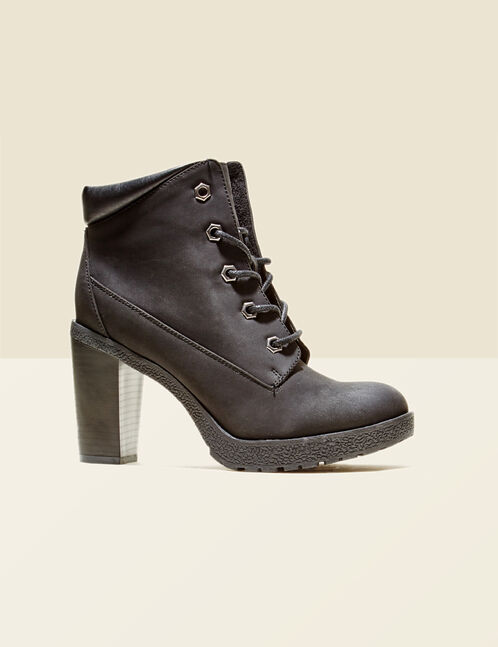 Black hi-top ankle boots