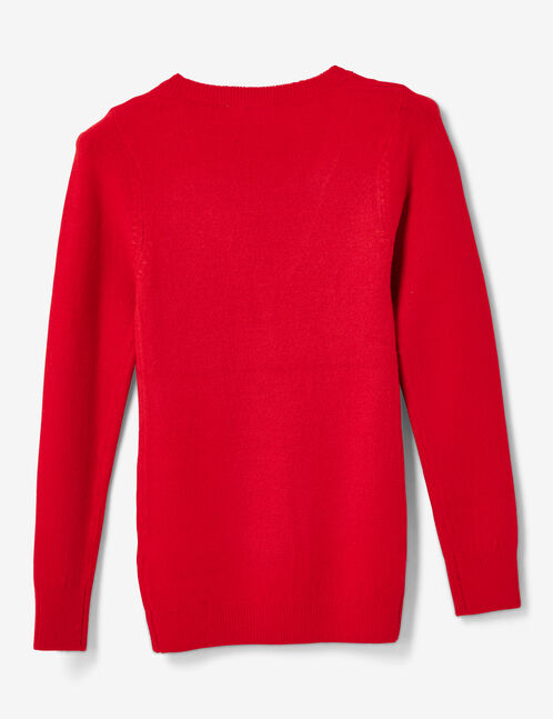 pull toucher cachemire rouge