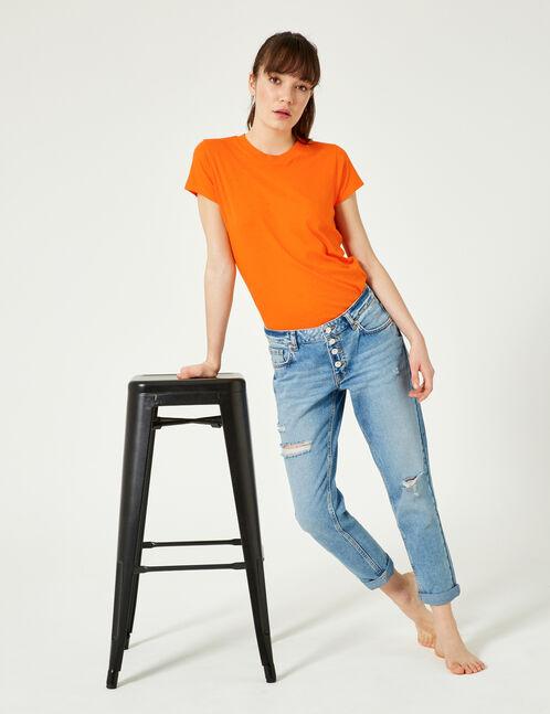 tee-shirt basic orange