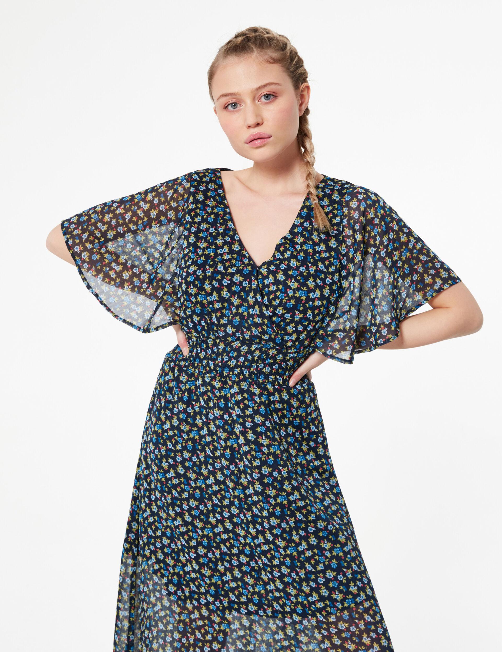Striped print dress