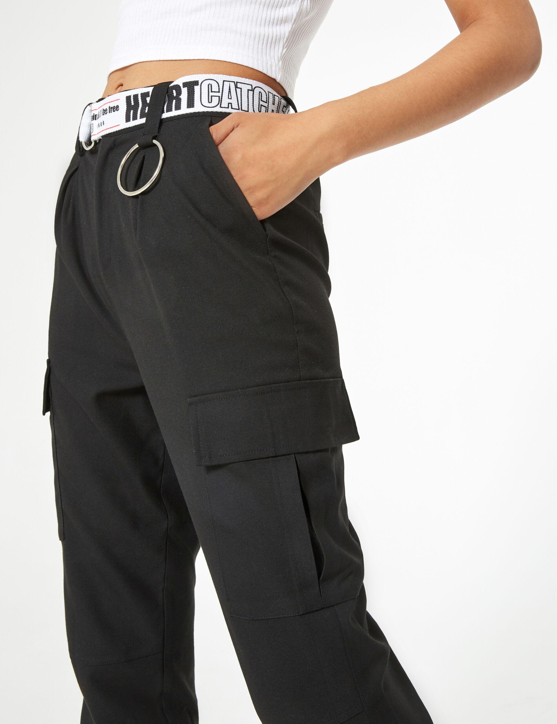Pantalon cargo avec ceinture