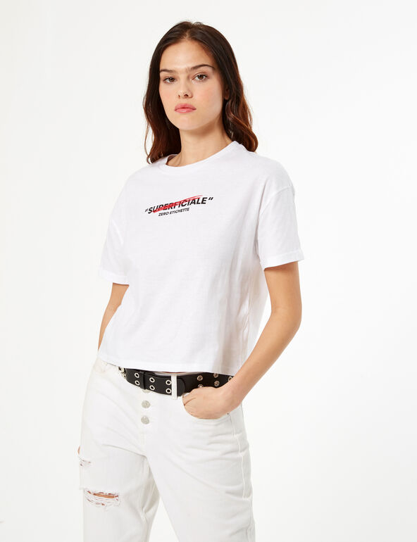 'Don't call me superficiale' ('Don't call me superficial') T-shirt