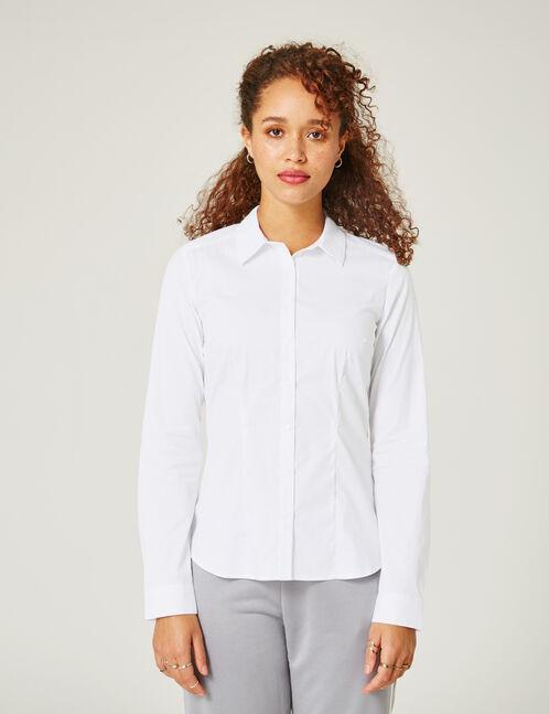 chemise basic cintré blanche