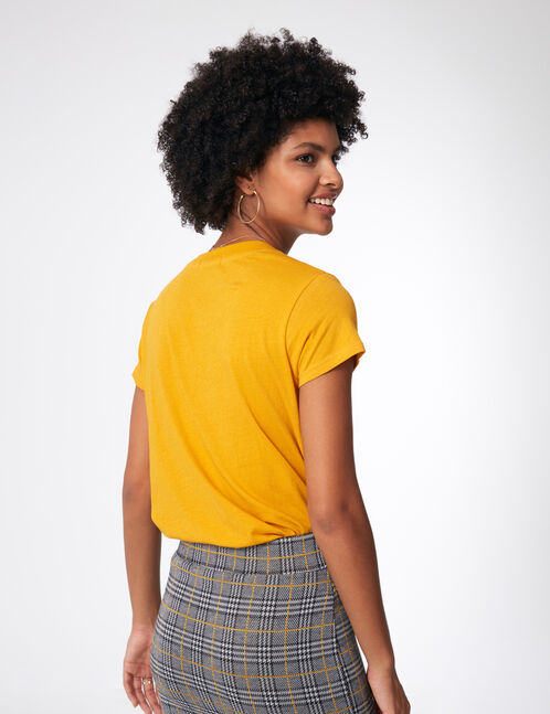Basic ochre T-shirt