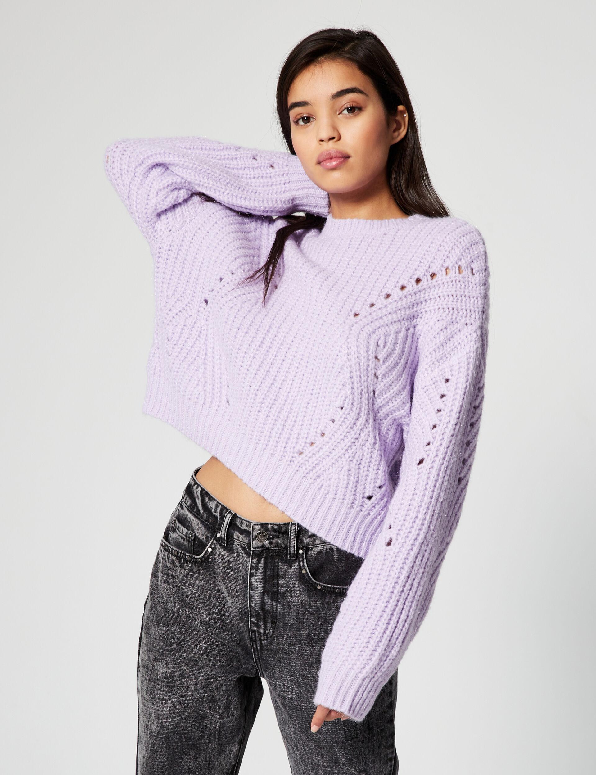 Sparkly ribbed jumper