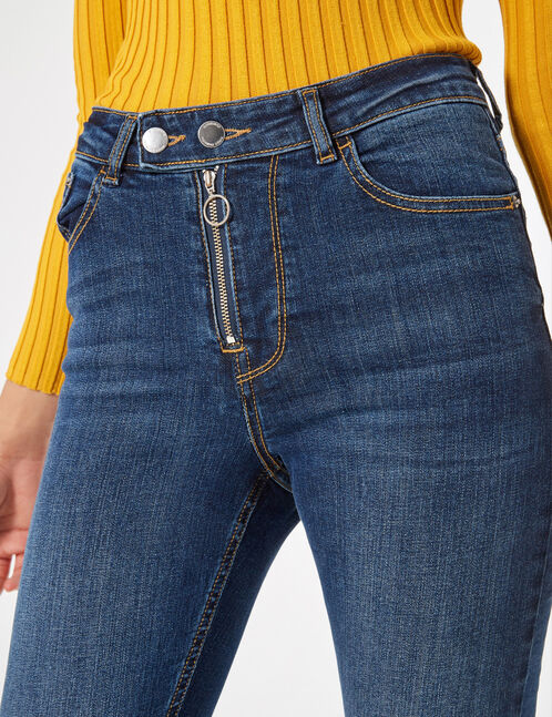 jean skinny zippé