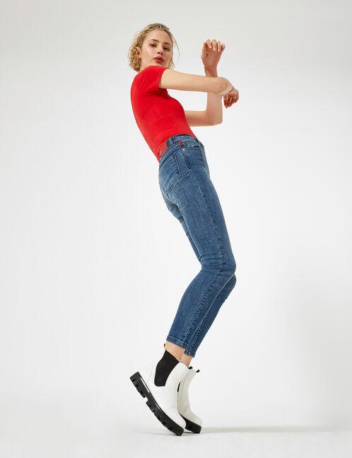jean skinny zippé medium blue