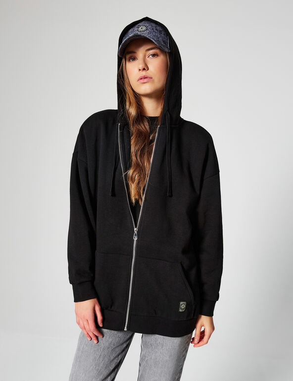 Sweat zippé oversize