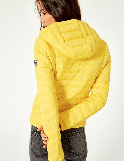 doudoune légère jaune