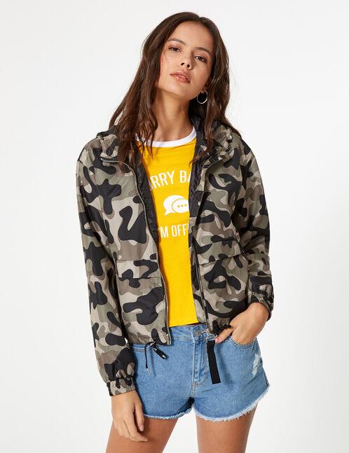 veste légère camouflage