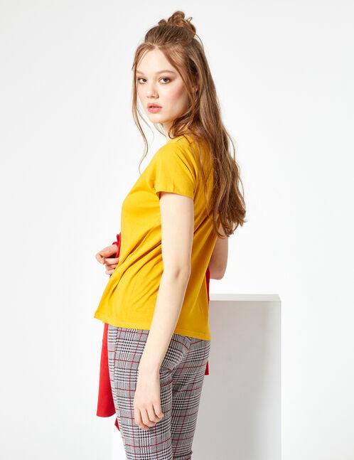 Basic ochre T-shirt