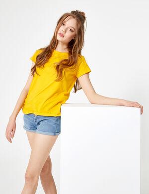 tee-shirt basic jaune