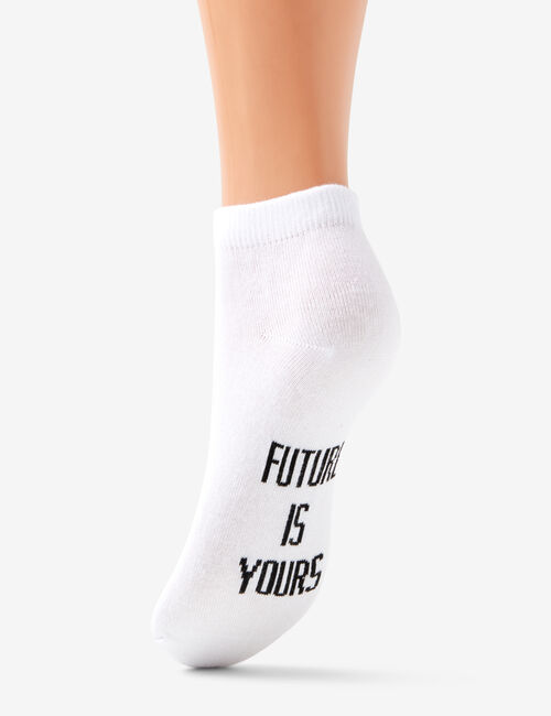 Socks with slogan