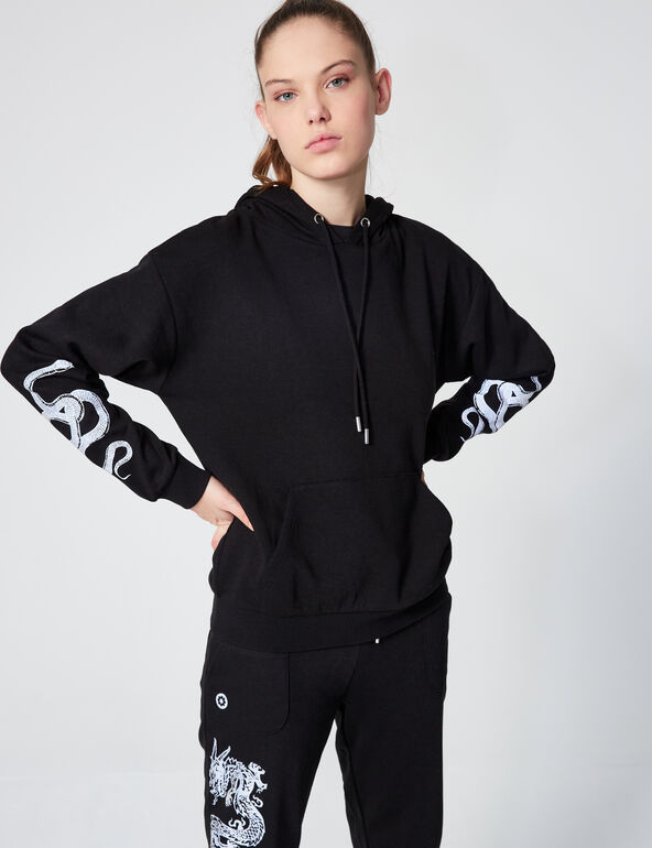 Sweatshirt with reflective motifs